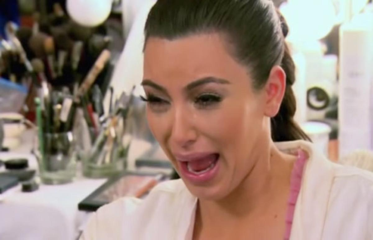 Image result for kim kardashian crying